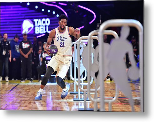 Event Metal Print featuring the photograph Joel Embiid by Jesse D. Garrabrant