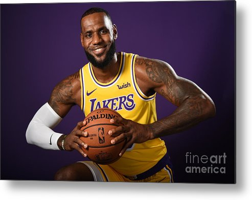 Media Day Metal Print featuring the photograph Lebron James by Andrew D. Bernstein