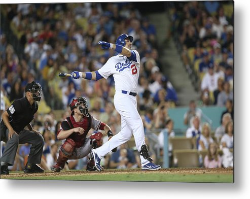 California Metal Print featuring the photograph Adrian Gonzalez by Stephen Dunn