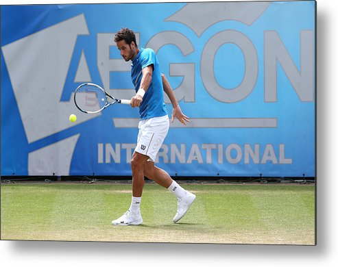 Tennis Metal Print featuring the photograph Aegon International - Day Seven by Jan Kruger