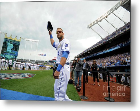 Crowd Metal Print featuring the photograph Alex Gordon by Ed Zurga