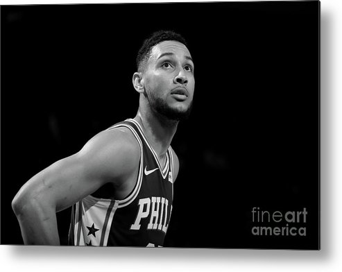 Nba Metal Print featuring the photograph Ben Simmons by Nathaniel S. Butler