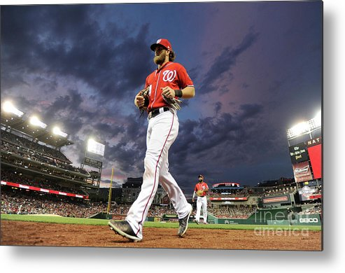 People Metal Print featuring the photograph Bryce Harper by Greg Fiume