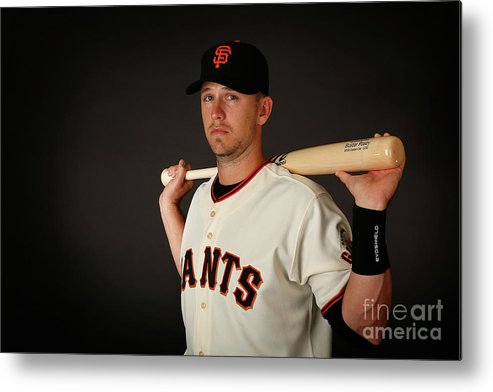 Media Day Metal Print featuring the photograph Buster Posey by Christian Petersen
