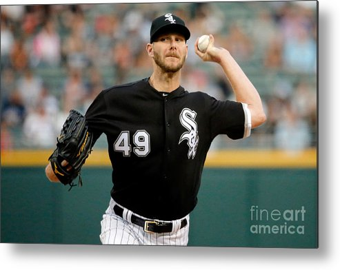 Three Quarter Length Metal Print featuring the photograph Chris Sale by Jon Durr