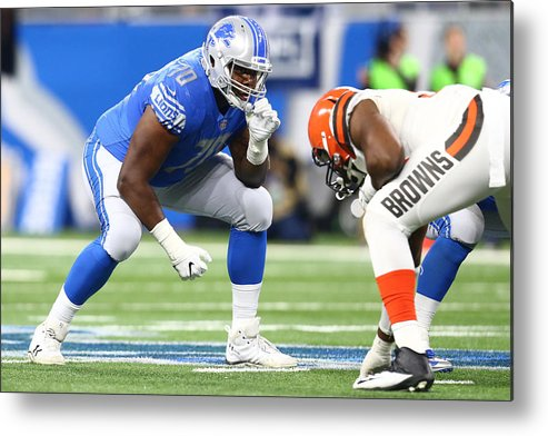 People Metal Print featuring the photograph Cleveland Browns v Detroit Lions by Rey Del Rio
