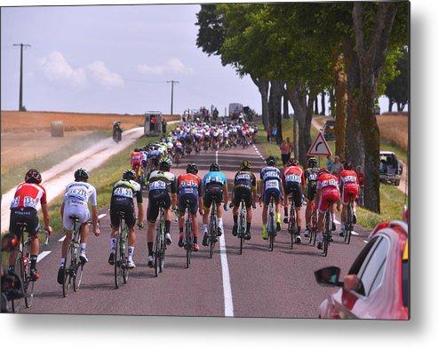 Peloton Metal Print featuring the photograph Cycling: 104th Tour de France 2017 / Stage 7 by Tim de Waele