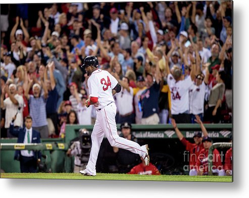 People Metal Print featuring the photograph David Ortiz by Billie Weiss/boston Red Sox