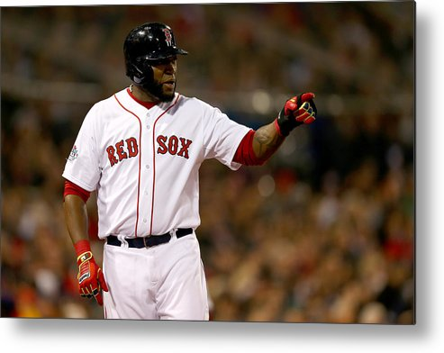Playoffs Metal Print featuring the photograph David Ortiz by Elsa