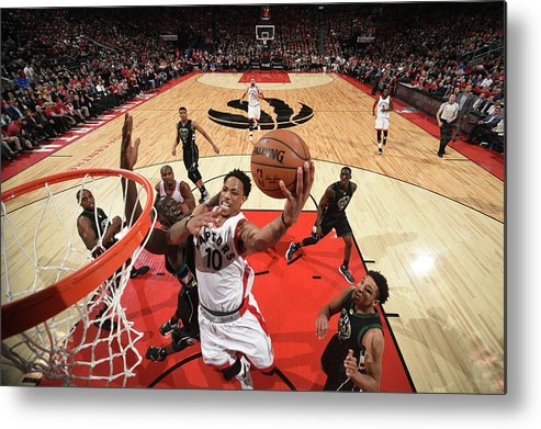 Playoffs Metal Print featuring the photograph Demar Derozan by Ron Turenne