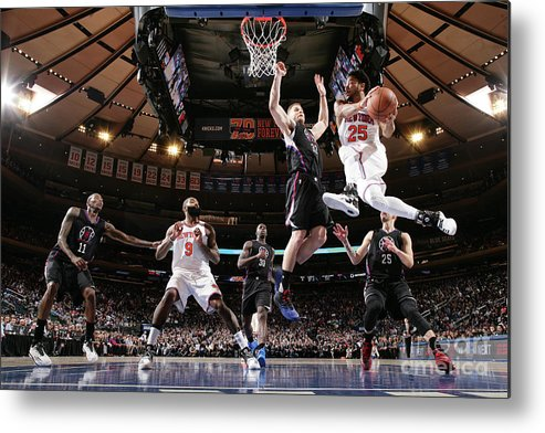 Nba Pro Basketball Metal Print featuring the photograph Derrick Rose by Nathaniel S. Butler