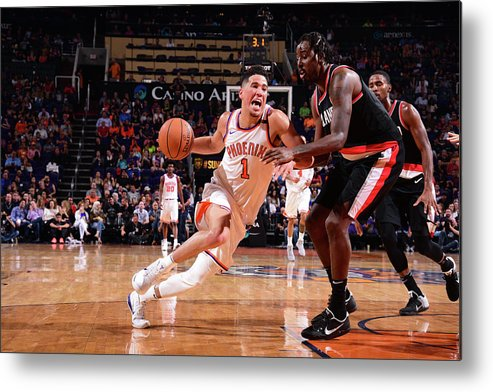 Nba Pro Basketball Metal Print featuring the photograph Devin Booker by Michael Gonzales