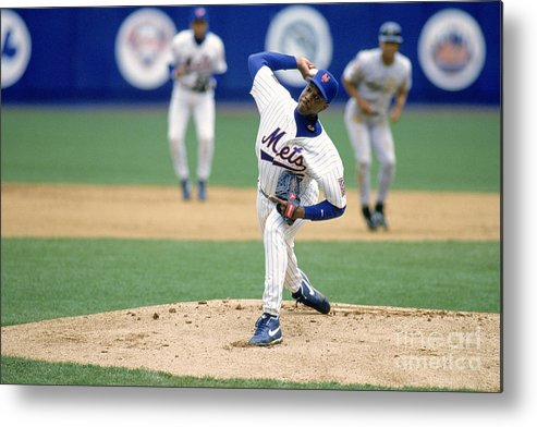 Dwight Gooden Metal Print featuring the photograph Dwight Gooden by Rich Pilling