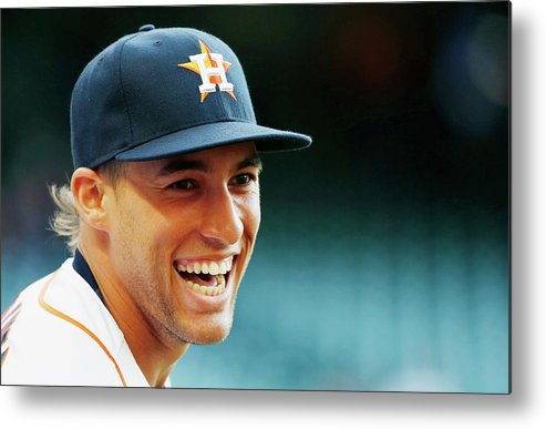 People Metal Print featuring the photograph George Springer by Scott Halleran