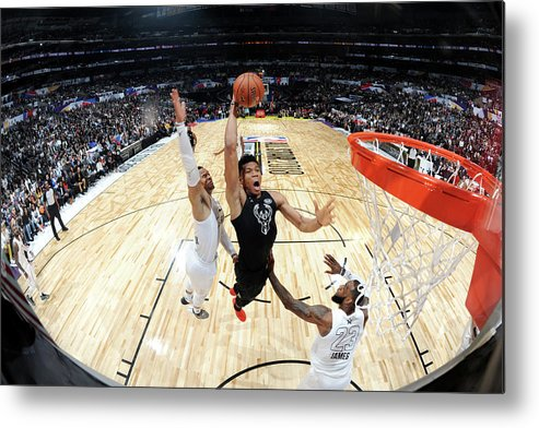 Nba Pro Basketball Metal Print featuring the photograph Giannis Antetokounmpo by Andrew D. Bernstein