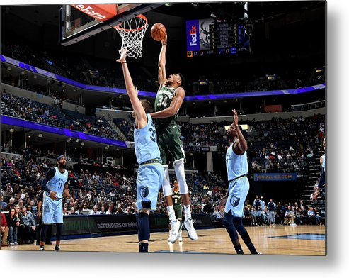 Nba Pro Basketball Metal Print featuring the photograph Giannis Antetokounmpo by Jesse D. Garrabrant
