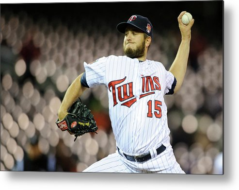 Game Two Metal Print featuring the photograph Glen Perkins by Hannah Foslien