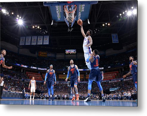 Nba Pro Basketball Metal Print featuring the photograph Joel Embiid by David Dow