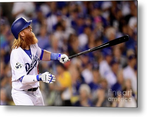 Three Quarter Length Metal Print featuring the photograph Justin Turner by Harry How