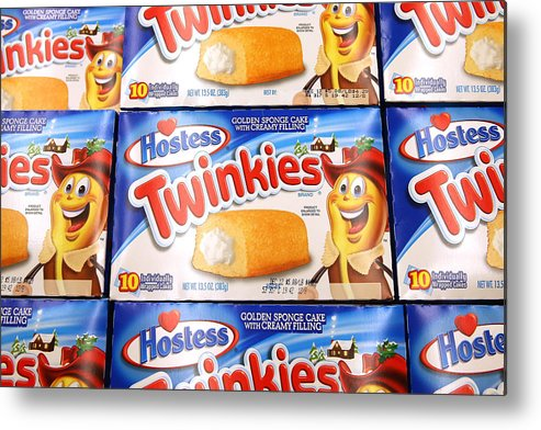 Employment And Labor Metal Print featuring the photograph Last Shipment Of Hostess Twinkies Arrives In Chicago Area Stores by Scott Olson