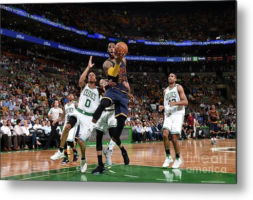 Playoffs Metal Print featuring the photograph Lebron James by Brian Babineau