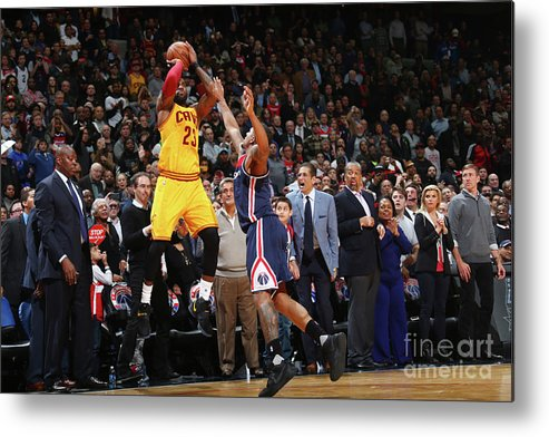 Nba Pro Basketball Metal Print featuring the photograph Lebron James by Ned Dishman