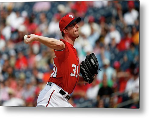People Metal Print featuring the photograph Max Scherzer by Rob Carr