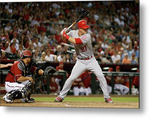 People Metal Print featuring the photograph Mike Trout by Christian Petersen