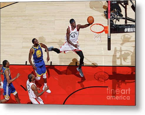 Playoffs Metal Print featuring the photograph Pascal Siakam by Mark Blinch