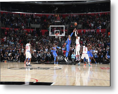 Nba Pro Basketball Metal Print featuring the photograph Paul George by Andrew D. Bernstein