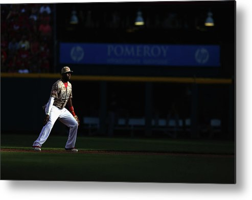 Great American Ball Park Metal Print featuring the photograph Red Phillips by Andy Lyons
