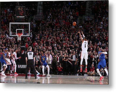 Playoffs Metal Print featuring the photograph Rodney Hood by Sam Forencich