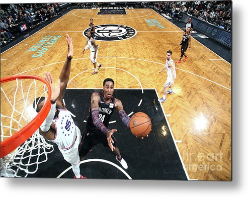 Playoffs Metal Print featuring the photograph Rondae Hollis-jefferson by Nathaniel S. Butler