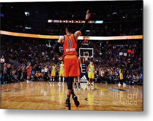 Crowd Metal Print featuring the photograph Russell Westbrook by Bart Young