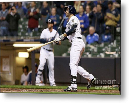 Ninth Inning Metal Print featuring the photograph Ryan Braun by Dylan Buell