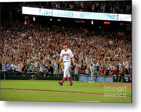 Stephen Strasburg Metal Print featuring the photograph Stephen Strasburg by Greg Fiume