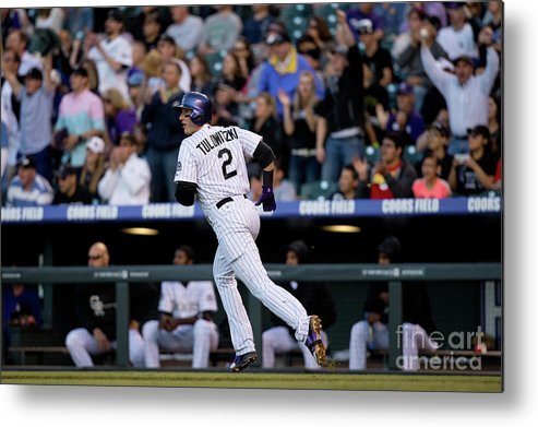 National League Baseball Metal Print featuring the photograph Troy Tulowitzki by Justin Edmonds