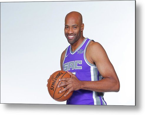 Media Day Metal Print featuring the photograph Vince Carter by Rocky Widner