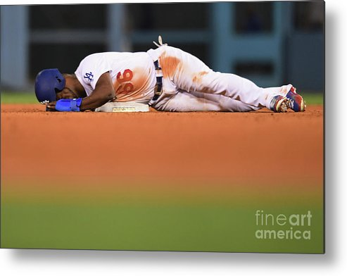 Game Two Metal Print featuring the photograph Yasiel Puig by Harry How