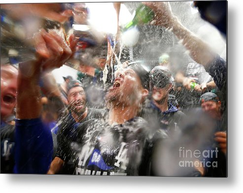 Championship Metal Print featuring the photograph Yasmani Grandal by Jamie Squire