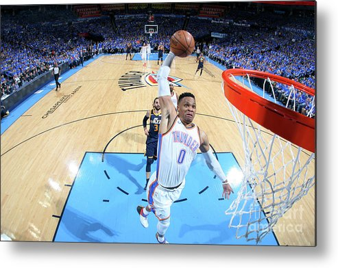 Playoffs Metal Print featuring the photograph Russell Westbrook by Layne Murdoch