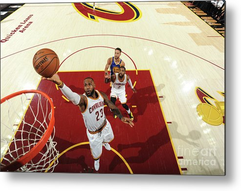 Playoffs Metal Print featuring the photograph Lebron James by Andrew D. Bernstein