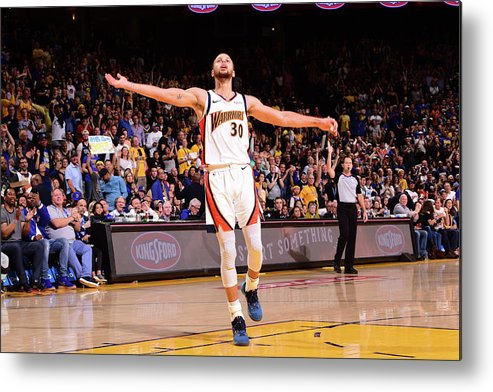Crowd Metal Print featuring the photograph Stephen Curry by Noah Graham