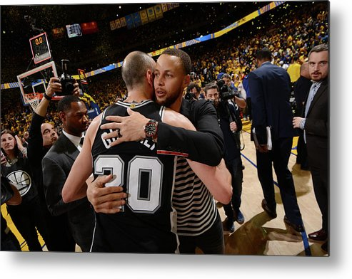 Following Metal Print featuring the photograph Stephen Curry by Noah Graham