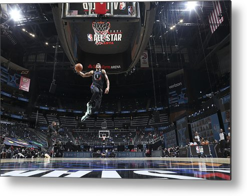 Atlanta Metal Print featuring the photograph 2021 NBA All-Star - AT&T Slam Dunk Contest by Nathaniel S. Butler