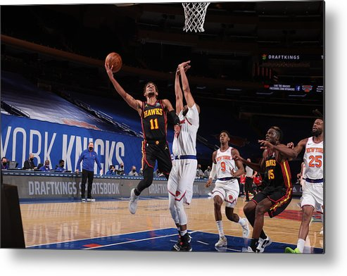 Nba Pro Basketball Metal Print featuring the photograph Atlanta Hawks v New York Knicks by Nathaniel S. Butler
