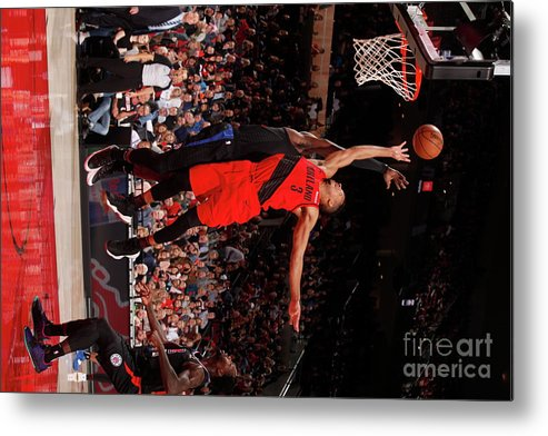 Nba Pro Basketball Metal Print featuring the photograph C.j. Mccollum by Cameron Browne