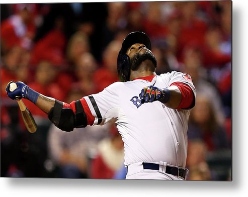 American League Baseball Metal Print featuring the photograph David Ortiz by Elsa