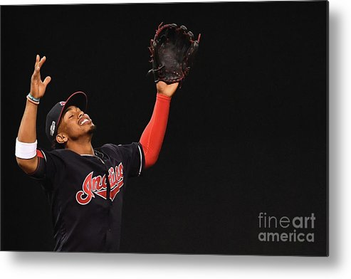 Game Two Metal Print featuring the photograph Francisco Lindor by Jason Miller