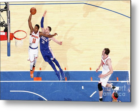 Nba Pro Basketball Metal Print featuring the photograph Frank Ntilikina by Nathaniel S. Butler